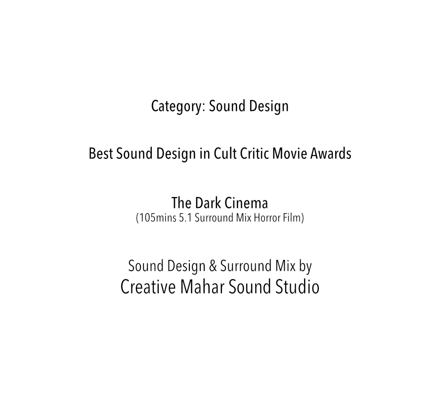Best Sound Design in Cult Critic Movie Awards